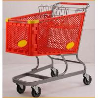 Buy Virgin PP Unfolding Shopping Basket Trolley American Style Retail Carts180L at wholesale prices