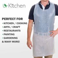 Quality Bio Based Plastic Throw Away Aprons Corn Starch Material OEM Acceptable for sale