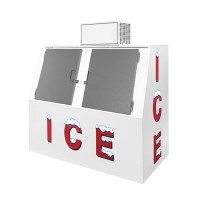 Quality Commercial 2 Doors Bagged Ice Cube Merchandiser Storage Freezer Box Containers for sale