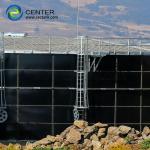 Quality Vitrum Process Liquid Storage Tanks With Economic Aluminum Dome Roof for sale