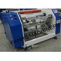 Quality Semi-automatic Aluminum Foil Roll Rewinding Machine For Small Foil Roll Kitchen Use Food Packaging for sale