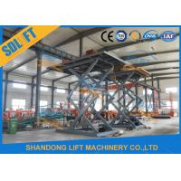 Quality 5.5M Basement Stationary Type Hydraulic Scissor Car Lift Long Life Time for sale