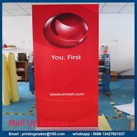 China Retractable Standard Roll Up Banner Stand With Banner on sale