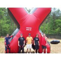 China Red commercial Grade PVC Tarpaulin inflatable paintball bunker on sale
