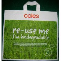 China Green Biodegradable Shopping Bags HDPE Plastic for Promotion on sale