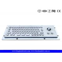 Quality IP65 Rated Compact Small Kiosk Panel Mount Keyboard With Optical Trackball for sale