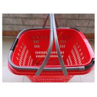 Quality Duralumin Pull Rod Virgin Wheeled Shopping Baskets Shopping Trolley On Wheels for sale