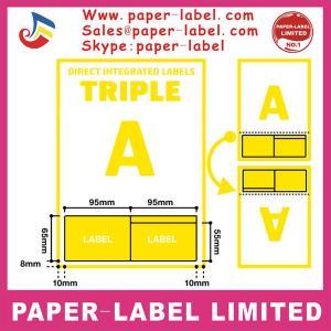 China Integrated label (Laser/Inkjet label, Paypal labels, A4 label) on sale