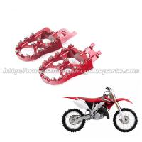 Quality Honda Aluminum Alloy Wide Dirt Bike Foot Pegs With Stainless Steel Sharp Teeth for sale