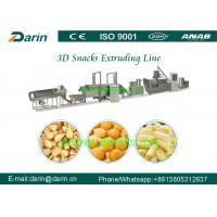 Quality Extruded Fried Snack 3D Flour Bugles Chips Making Machine 50HZ for sale