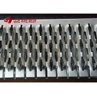 China Hot Dipped Galvanised Grip Strut Perforated Metal Mesh Plank Grating In Silver on sale