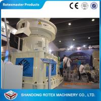 China 4-12mm Wheat Straw Pellet Machine , Vertical Ring Die Pellet Mill Equipment on sale
