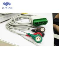 Quality Compatible Nihon Kohden one piece ECG cable 12pin clip IEC/AHA 3-lead cable ECG for sale