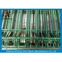 Quality Powders Sprayed Coating Welded Wire Mesh Fence For Courtyard Dark Green Color for sale