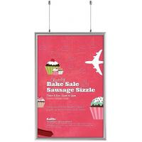 Quality A3 Size Double Sided LED Light Box Snap Frame Aluminum Finish Poster Frame Displays for sale