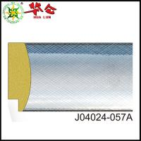 Quality J04024 series Hualun Guanse Professional Silver plastic picture frame moulding Manufacturer for sale