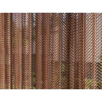 Quality metallic shower curtain/Metal Coil Drapery/expanded stainless steel wire mesh Architectural metal coil drapery curtain f for sale