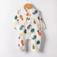 MBP 013 Certified Muslin Baby Pajamas Two Layers Natural Summer Sleep Quick Dry