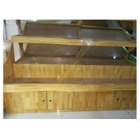 Quality Vegetable / Fruit Wooden Retail Display Stand Supermarket Wooden Display Shelving for sale