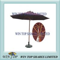 Quality 2.7m Wooden Pole Outdoor Patio Umbrella for sale