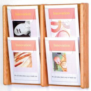 Quality Four pockets acrylic magazine rack for sale