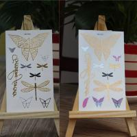 Quality UV flash tattoo with metallic gold silver foil photochromic tattoo  exposed to sunlight for sale