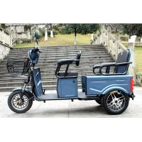Quality Blue color 60v32Ah battery 2 person capacity three wheel electric scooter with seat for sale