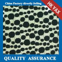Quality 2014 china factory wholesale new design Black dot design Nylon & Cotton lace fabric for sale
