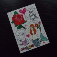 Quality Full color temporary tattoo for sale