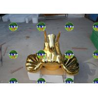 Quality Home Deco  fiberglass golden elephant head statue/sculpture as decoration in hotel mall display model for sale