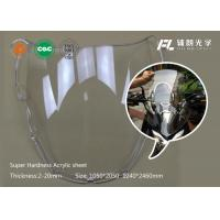 China Perspex sheet abrasion resistant acrylic pmma sheet apply to ovservation windows and quipment enclosures on sale