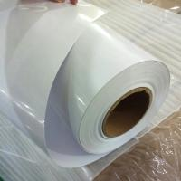 Quality Transparent Self Adhesive Vinyl Film Non - Permanent Digital Print With Glossy Surface for sale