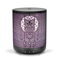Quality Home Office Mini Ultrasonic Aroma Diffuser Metal Iron Essential Oil Diffuser for sale