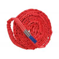 Buy cheap Red 5T Endless Polyester Round Sling Oxidation Resistance With Blue Label from wholesalers