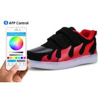 China Skate Boys App Controlled LED Shoes Bluetooth Connection Light Up Sneakers For Kids on sale