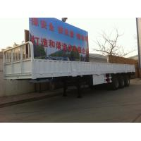 Quality 3 AXLES Semi Trailer Trucks High Column Black Cargo Truck Trailer Two Single for sale