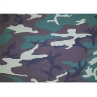Quality Camouflage Polyester Print Fabric / Modern Print Fabric Soft for sale