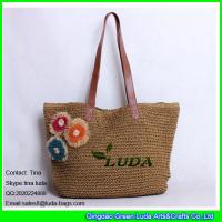 b2ca07c4be Quality LUDA 2015 paper straw beach bag crochet straw tote bag shopping bag  for sale