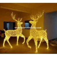 Quality large outdoor christmas reindeer light for sale
