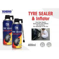 Quality Non - Toxic Tire Sealer And Inflator For Fixing Flat Tire / Punctured Tire / Rubber Tire for sale