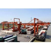 Quality Automatic Electric Shipping Container Crane , Heavy Working Duty Port RMG Crane for sale