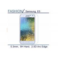 Quality Protective 2.5 D Tempered Glass Screen Cover , Ultra Clear Samsung E5 Screen Protector for sale