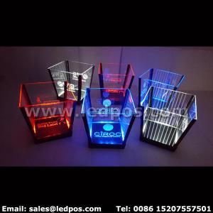 China Ledpos Customized Rechargeable LED Ice Bucket on sale