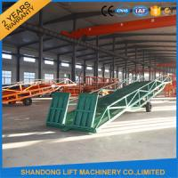 Quality Hand Pump Container Loading Ramps with  Heavy Duty Formed Steel Side Girders for sale