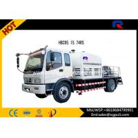 Quality PLC Control Cement Mixer Trailer , Concrete Pump Equipment With Wired Remote Controller for sale