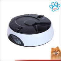 Quality 6 Meal LCD Digital timer dog feeder Dispenser Bowls with Recorder China factory for sale