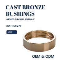 Quality Customzied Groove Bronze Gleitlager Thin Wall  Sleeve & Flange For Excavators for sale