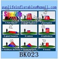 Buy cheap inflatable 44pcs psp paintball bunker Flexible combination from wholesalers
