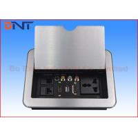 HDMI Conference Room Table Electrical Outlets , Flip Up Desk Mounted Power Sockets