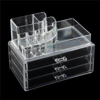 China Beauty Products Retail Shop Counter Top Pure Acrylic Cosmetics Display Case on sale